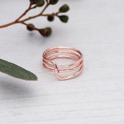 Witty Ring - rose gold (size 7)