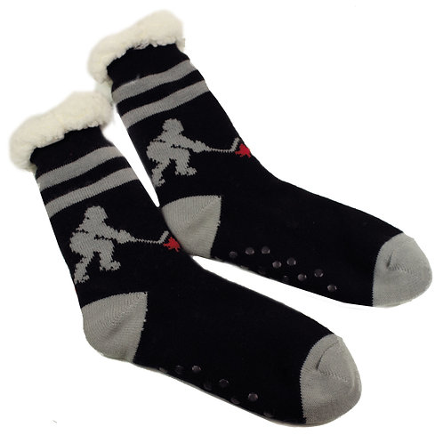 HOCKEY PLAYER INDOOR COZY SOCKS