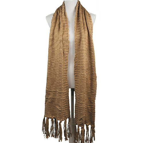 CLASSIC KNIT OVERSIZED SCARF CAMEL