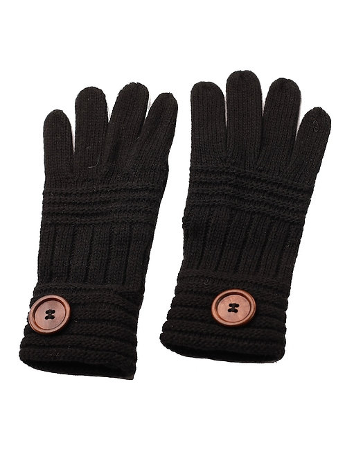Winter Gloves with Button Accent