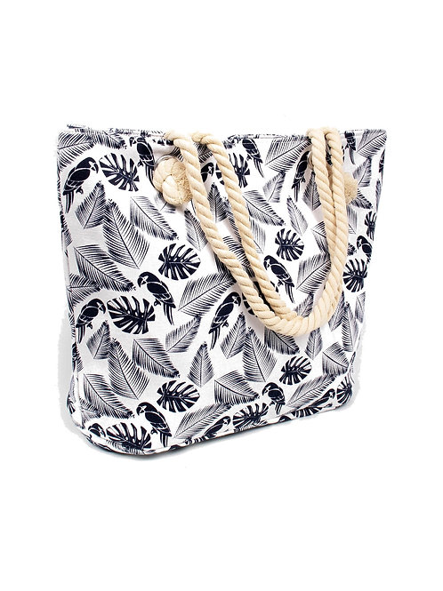 Canvas Printed Shoulder Tote