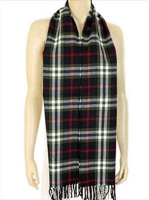 Plaid Red and Green Unisex Scarf