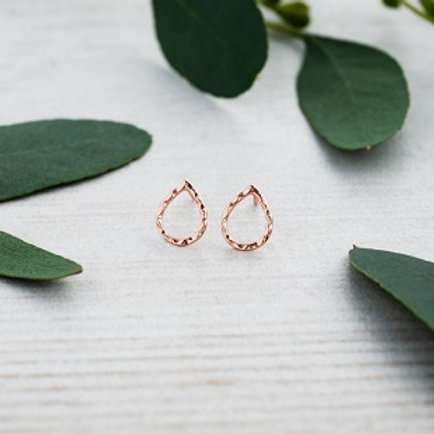 Juliet Studs in rose gold
