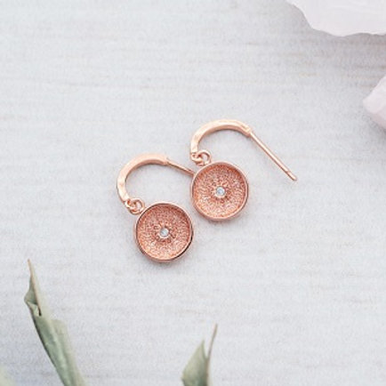 Gallery Earrings - rose gold