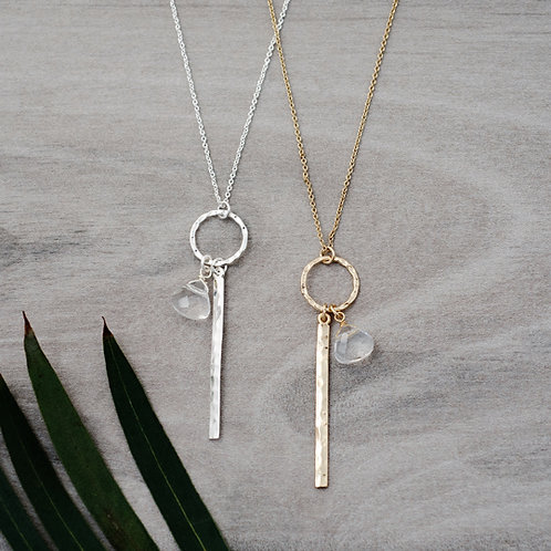 Hushed Necklace in silver