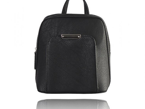 Franca Black Backpack/Purse