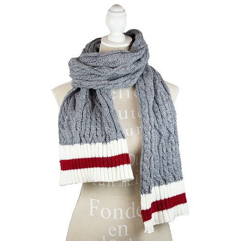 CABLE KNIT WORK WINTER SCARF
