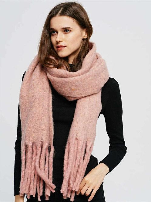 Soft Pink Winter Scarf