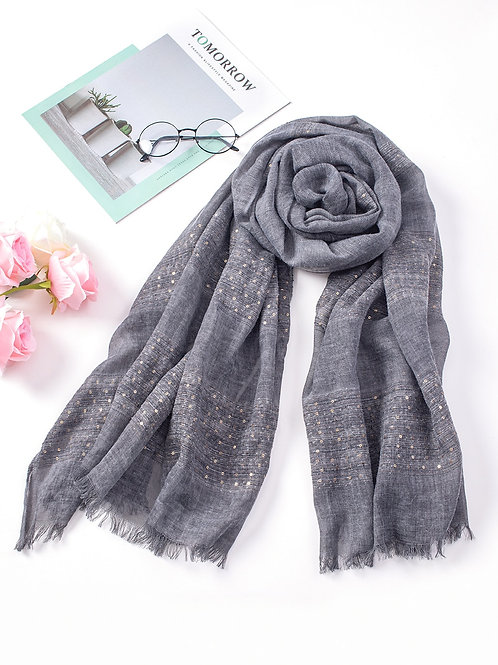 Charcoal Spring Scarf