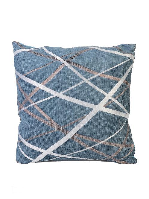 Blue Linear Pattern Cushion & Filler