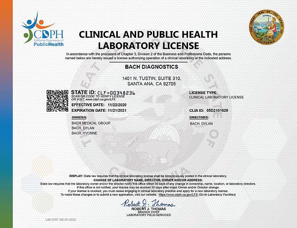CLIA Certificate 2020.PNG