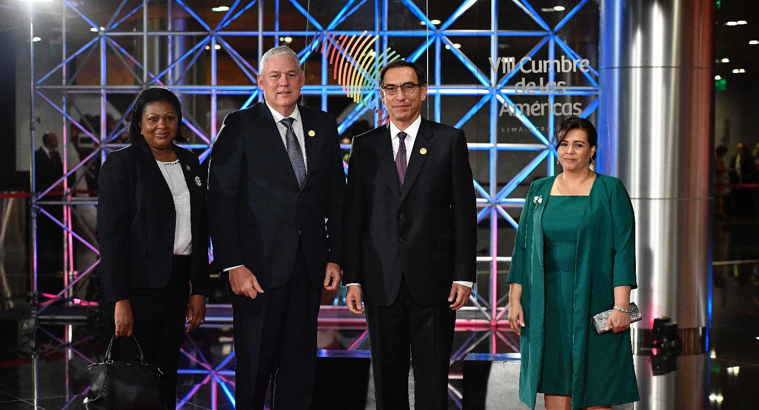PM with President of Peru and wife