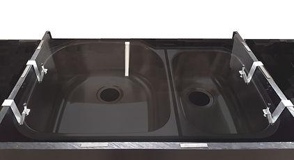 E-Bracket underount sink layout with kitchen sink imposed