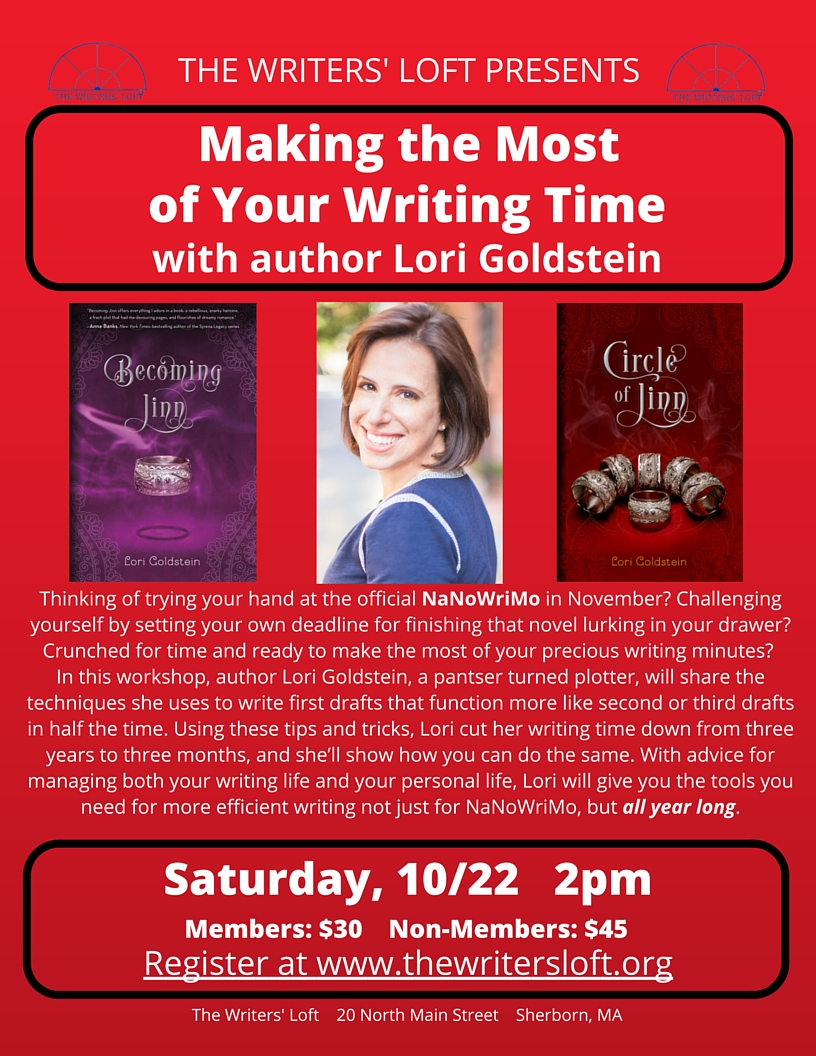 2016-10-22 Lori Goldstein NaNo Workshop