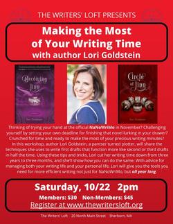 2016-10-22 Lori Goldstein NaNo Workshop