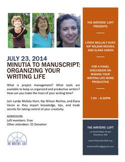 2014-07-23 Minutia To Manuscript