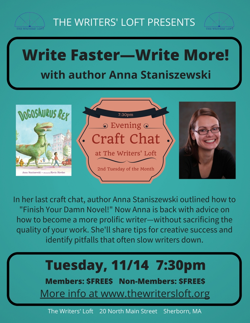 Write More Fast Craft Chat with Anna Staniszewski