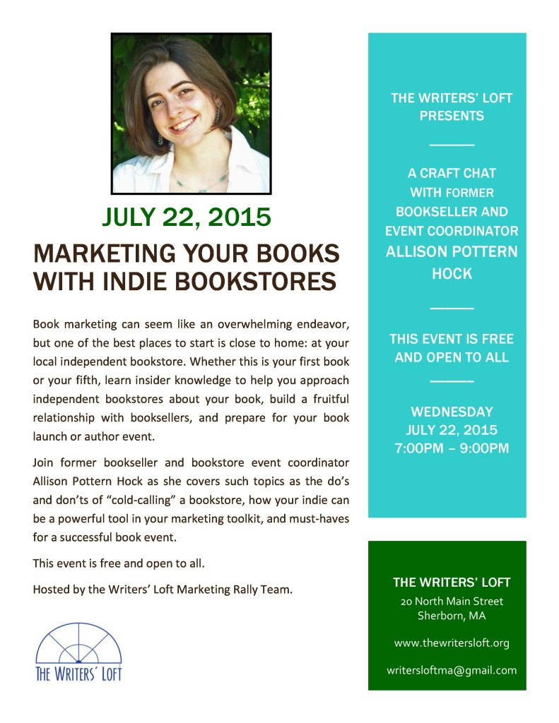 2015-07-22 Marketing Your Books