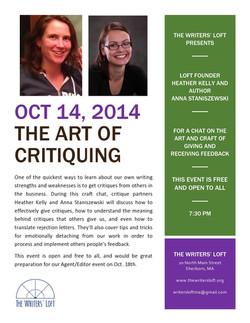 2014-10-14 Art of Critiquing