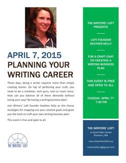 2015-04-07 Planning Writing Career