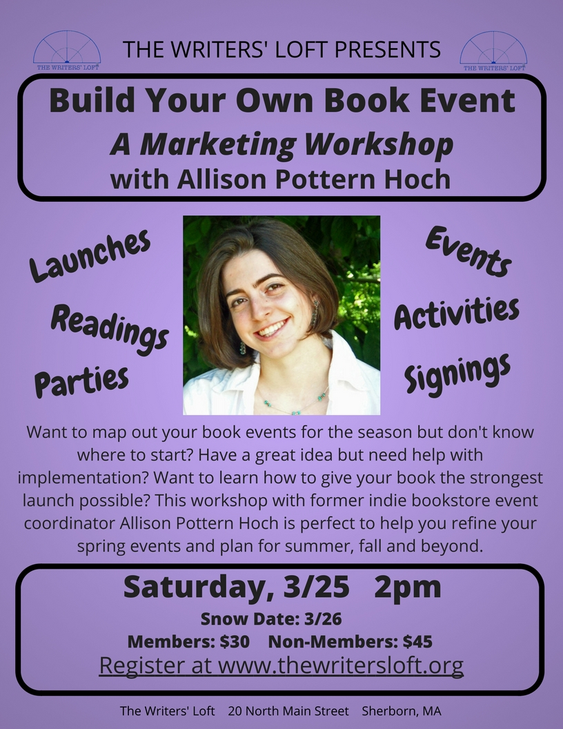 2017-03-25 Build Your Own Book Launch