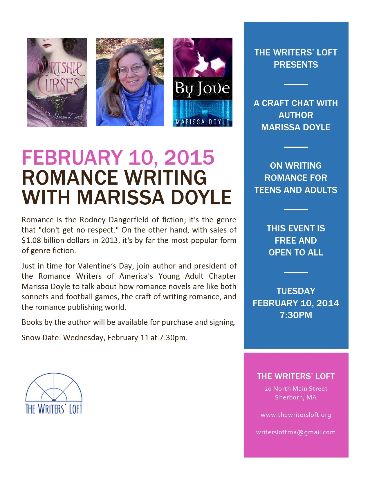 2015-02-10 Romance Writing