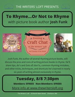 Josh Funk Rhyme Craft Chat