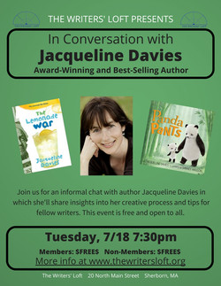 2017-07-18 In Conversation with Jacqueline Davies