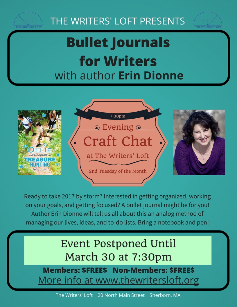 Erin Dionne Bullet Journal Craft Chat postponed