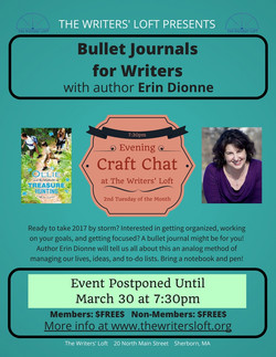 Erin Dionne Bullet Journal Craft Chat postponed