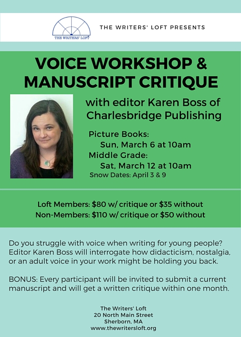 2016-03-06 Voice Workshp and Manuscript Critique