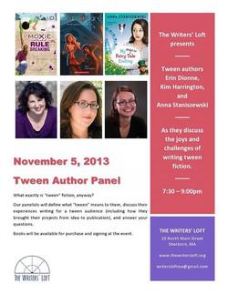 2013-11-05 Tween Author Panel