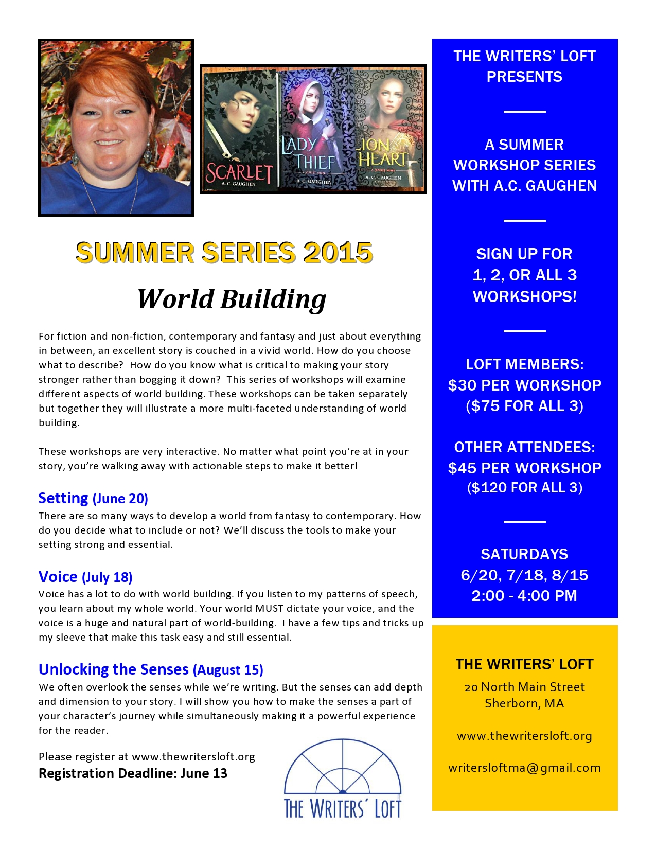 2015-06 World Building Summer Series