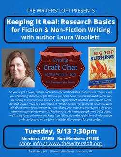 Laura Woollett 9.13.17 Craft Chat