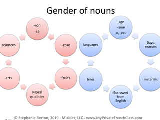 French words gender rules