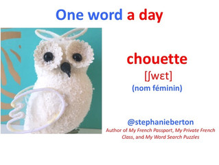 "One French Word a Day : ""chouette"""