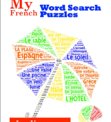 My French Word Search Puzzles, Les Vacances, is for sale: review your French vocabulary