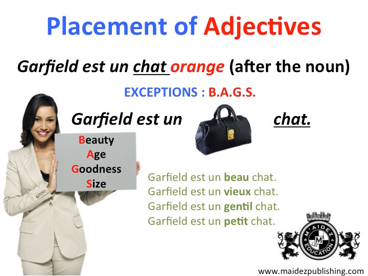 maidez publishing Learn French placement of adjectives.jpg