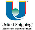 United Shipping REGISTERED TRANSPARENT L