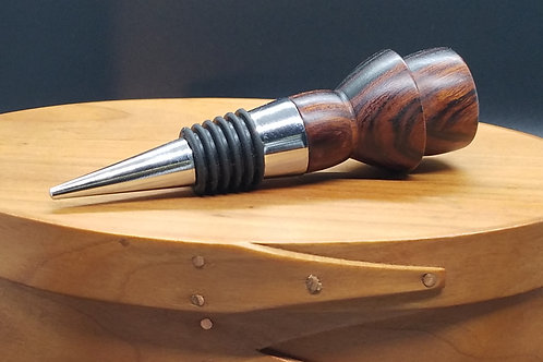 Ironwood & Stainless Steel Wine Bottle Stopper