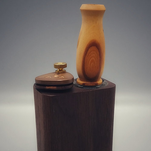 "Two Toned Apple Wood 19/19 ""Vase"" Stem"