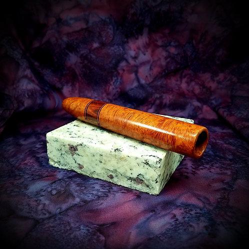 Briarwood/Cocobolo Wood/Acrylic Cigar Pipe
