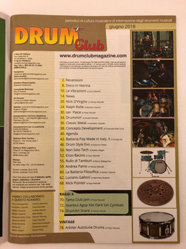 INTERVIEW - DRUM CLUB MAGAZINE