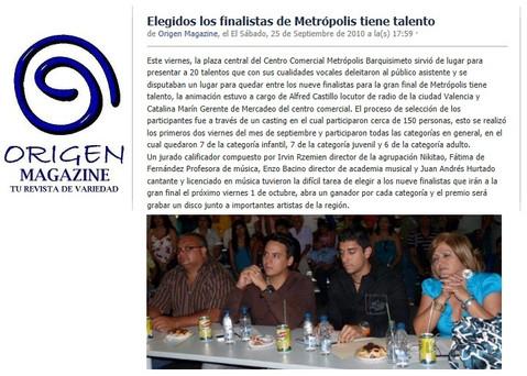 NEWS - METROPOLIS TIENE TALENTO