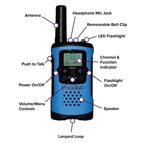 TwiddleB Walkie Talkie (Set of two walkie talkies)