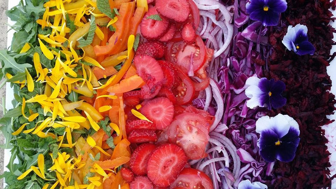 Rainbow Salad - video