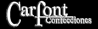 logotipo de carfont confecciones