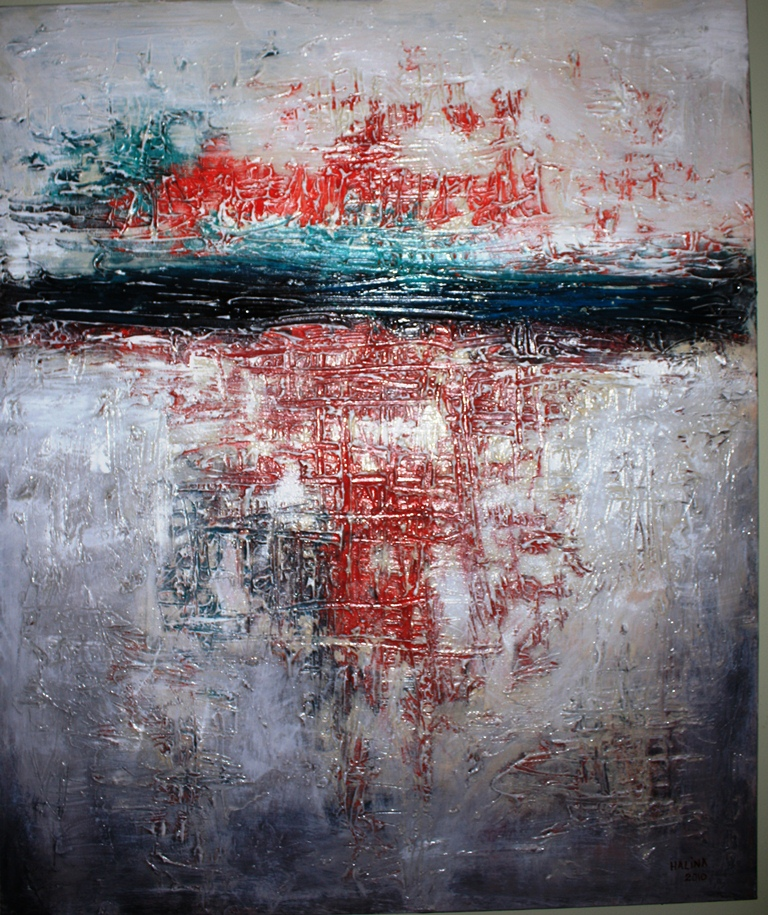 SOLD....... Red Reflection   91X76cm