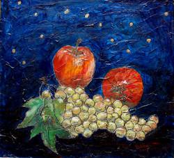 SOLD - Grapes & Apples 43X58cm.JPG