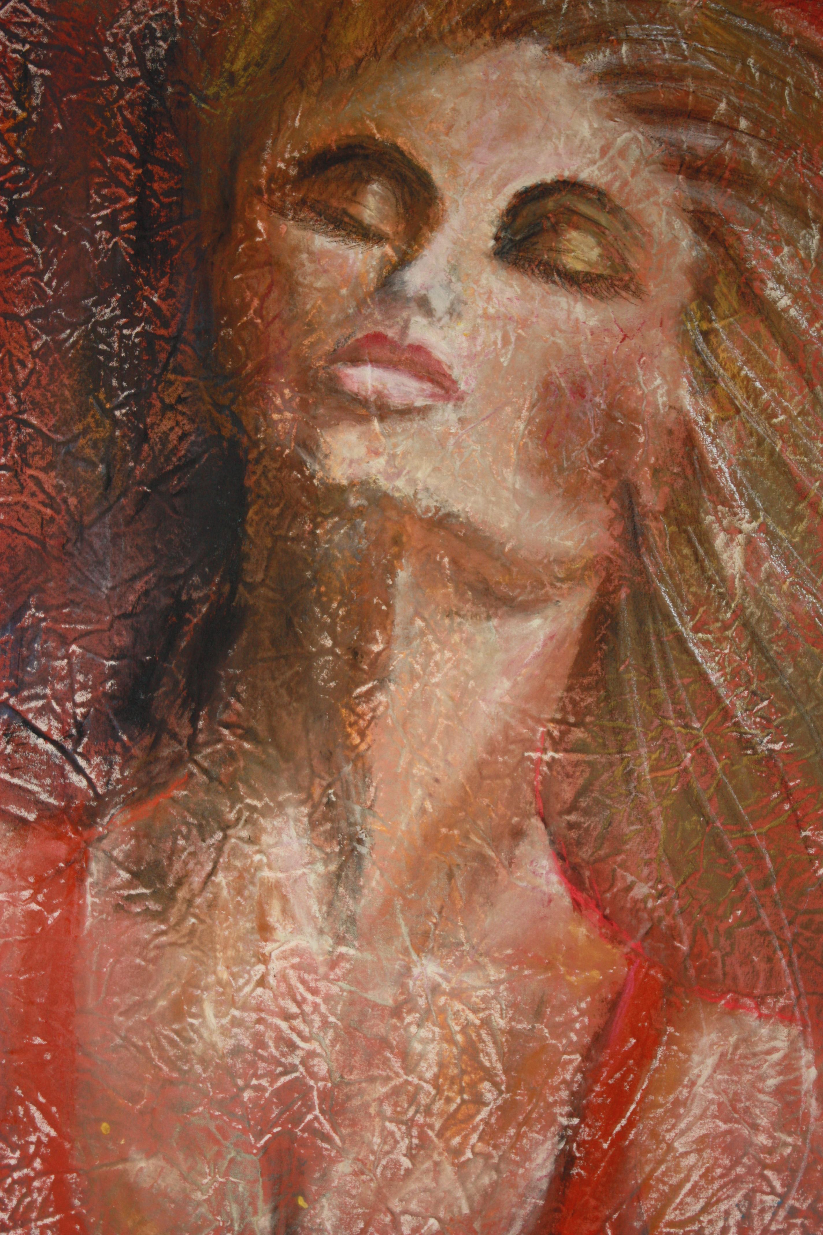 Lady in Red    136cm X 92 cm